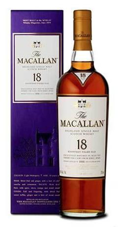 Macallan Scotch Single Malt 18 Year